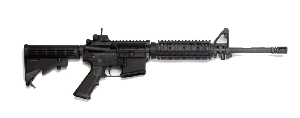 The current example of an M4 carbine with a twist rate of 1:7 to stabilize the 62 grain M855.