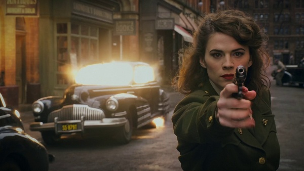 Agent Peggy Carter Aims Her Walther PPK in Captain America The First Avenger