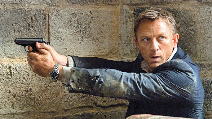 Daniel Craig Shooting the Walther PPK as James Bond