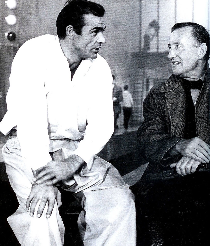 Ian Fleming on the Goldfinger Set with Sean Connery