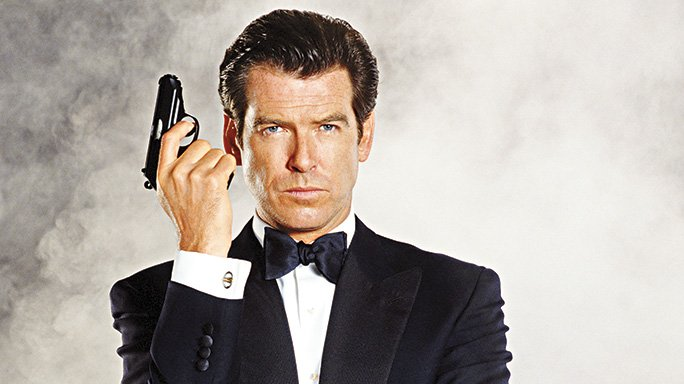 Pierce Brosnan as James Bond with His Walther PPK