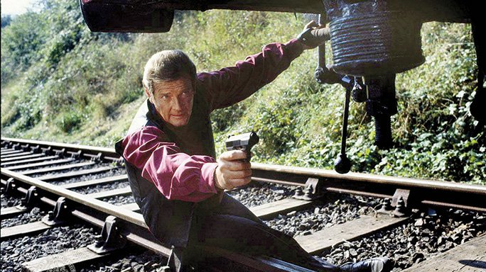 Roger Moore's James Bond with His Walther P5 Compact in Octopussy