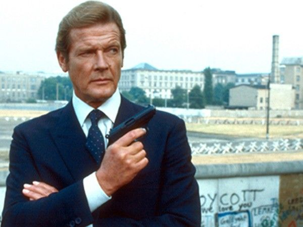 Roger Moore Carrying a Walther PPK as James Bond