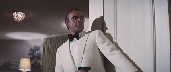 Sean Connery with a PPK as James Bond in Diamonds Are Forever