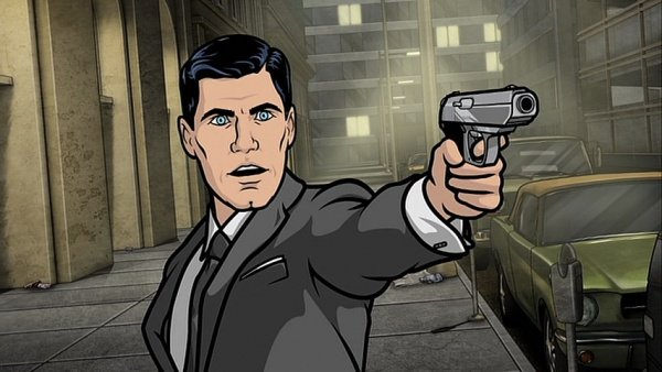 Sterling Archer Aims His Walther PPK