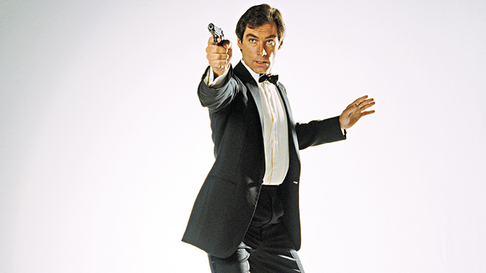 Timothy Dalton's James Bond with His Walther PPK