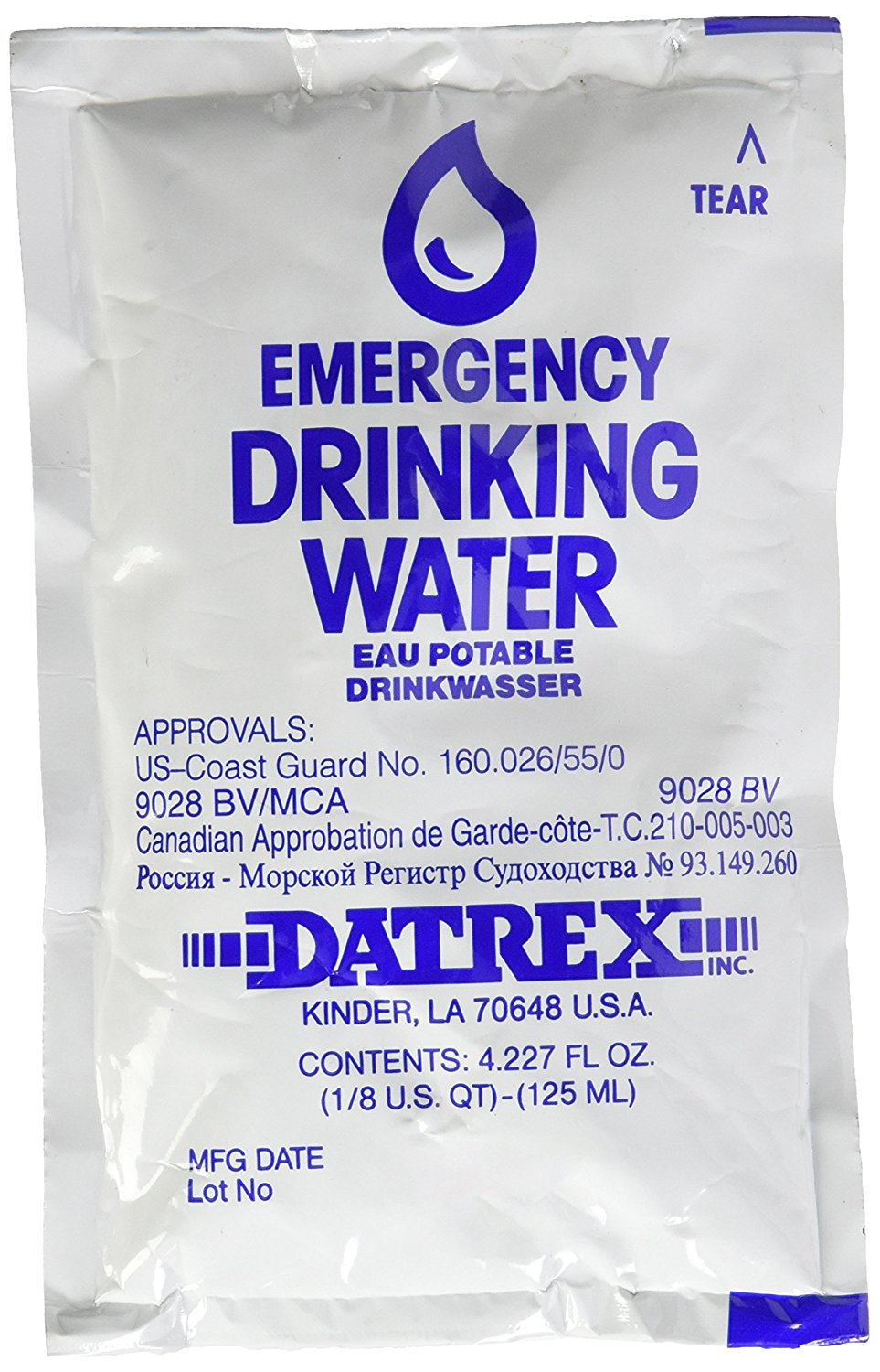 Emergency Water Pouch (64 Pack)