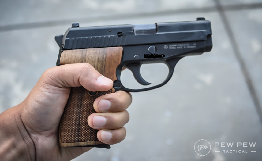Sig P239 in hand two