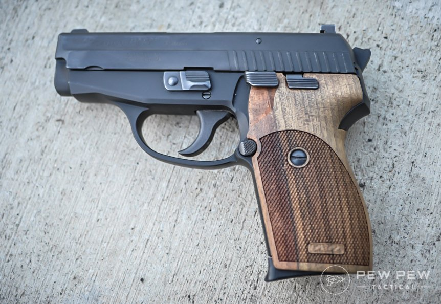 Sig P239 on ground