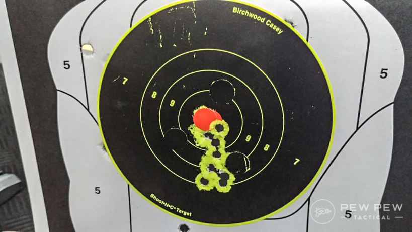 Sig V-Crown at 10-yards, Bersa Firestorm