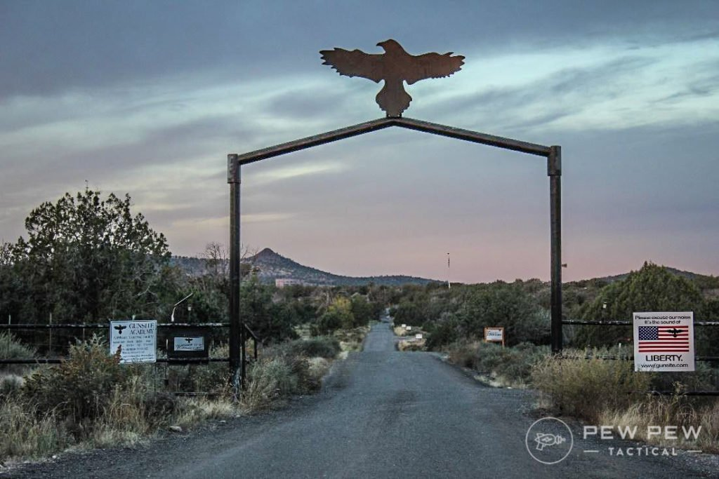 I arrived at Gunsite on the first day, just before sunrise.