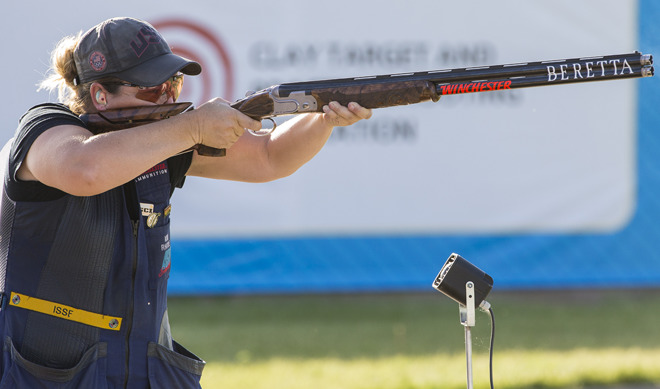 Kim Rhode and her Beretta DT11
