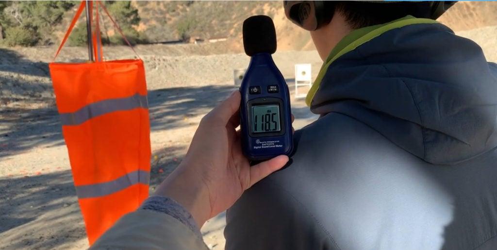 Muzzle Device Decibel Meter
