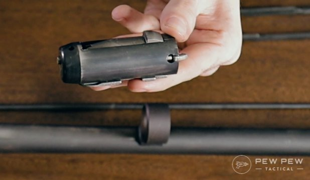 This is your bolt and bolt carrier. Spray them down!