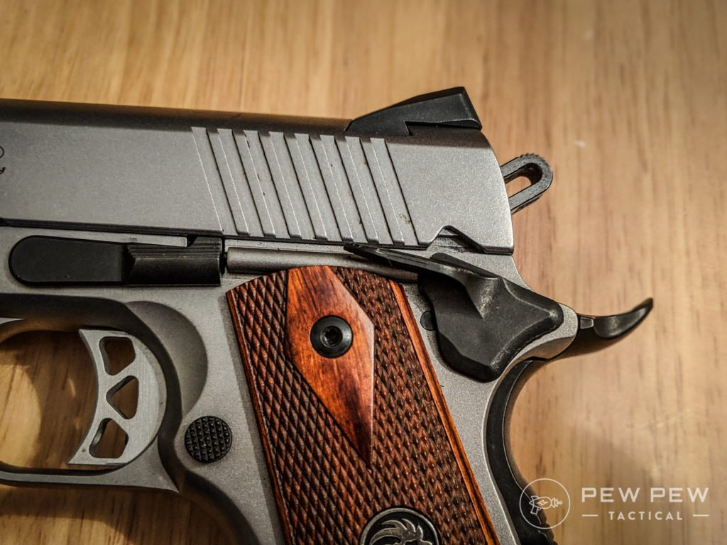 SR1911 Trigger and Thumb Safety
