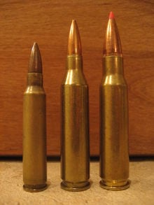 (left to right) .223 Rem, .243 Win, .308 Win