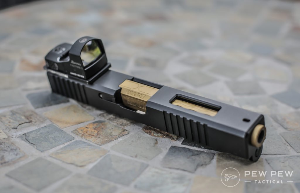 Brownells Windowed Glock Slide with Faxon TiN Barrel