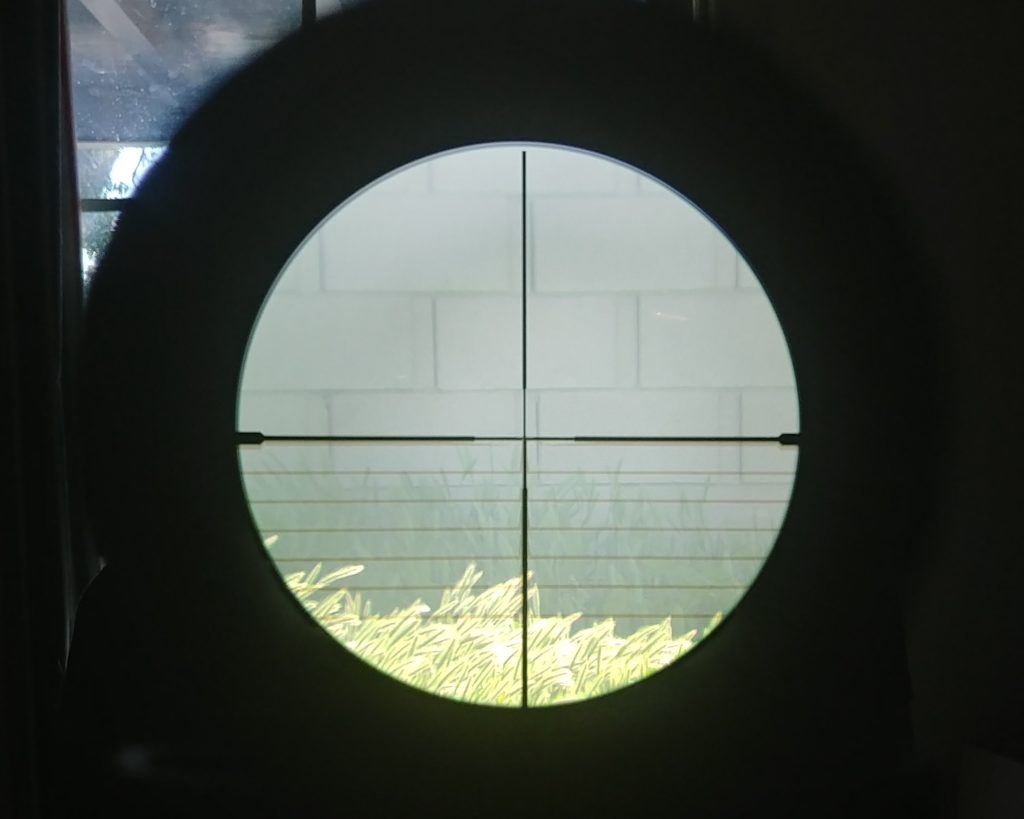 Sig through scope no lights