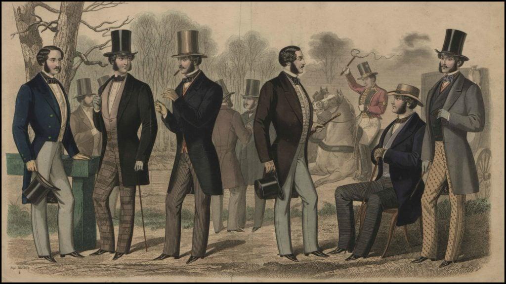 le legant mens fashion plate 1857
