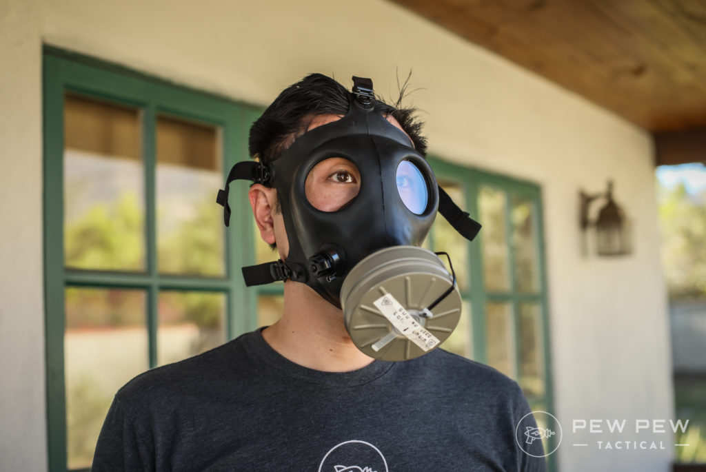 Wearing the Israeli Gas Mask