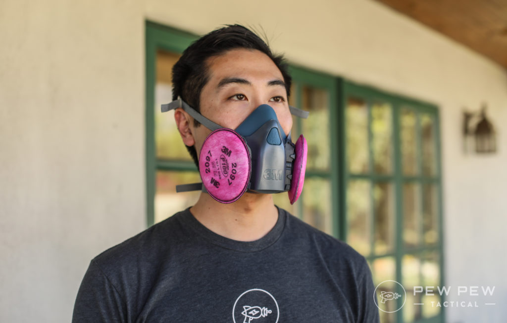 Wearing the 3M Half Face Respirator