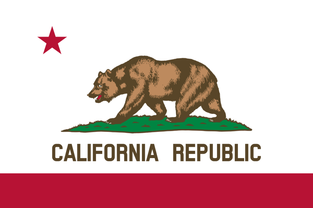 CA Flag with bear arms