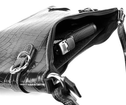 CrossBreed Purse Defender in bag