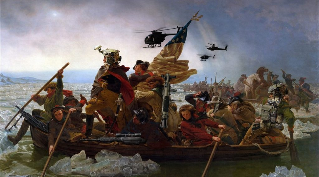 Washington crossing the Delaware, tactically.