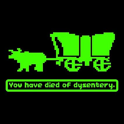 oregon trail died of dysentery
