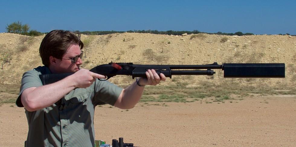 suppressed shotgun