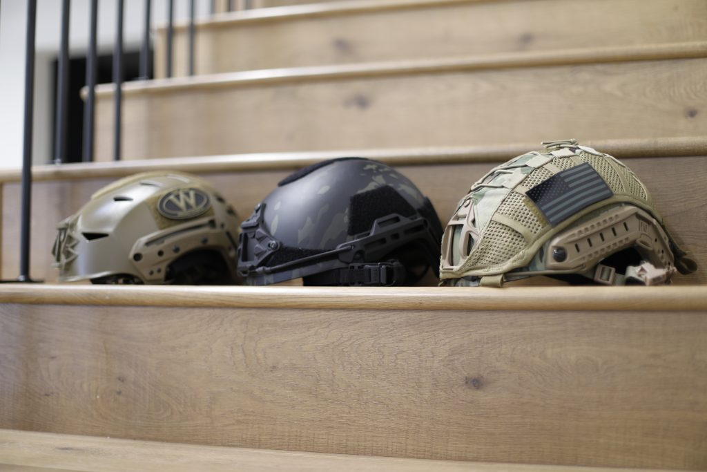 Tested Helmets (L to R), Team Wendy, HHV Gen 2, HHV Gen 1