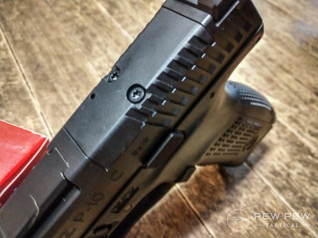 CZ P10C red dot mounting