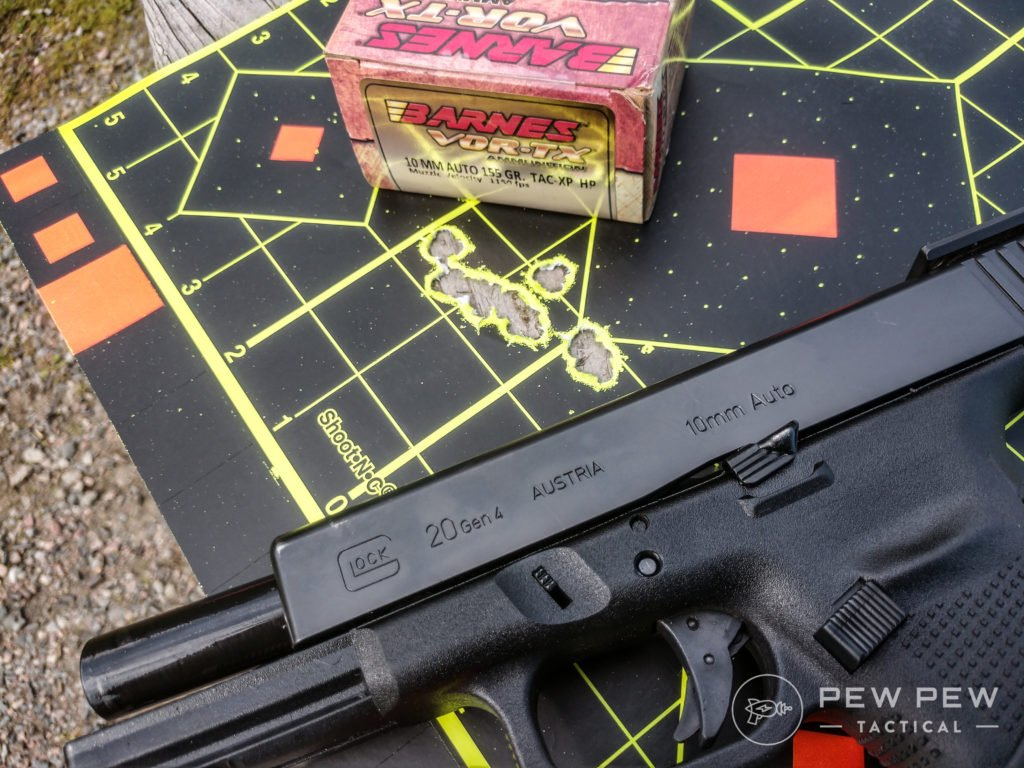 Glock 20 Target and Ammo