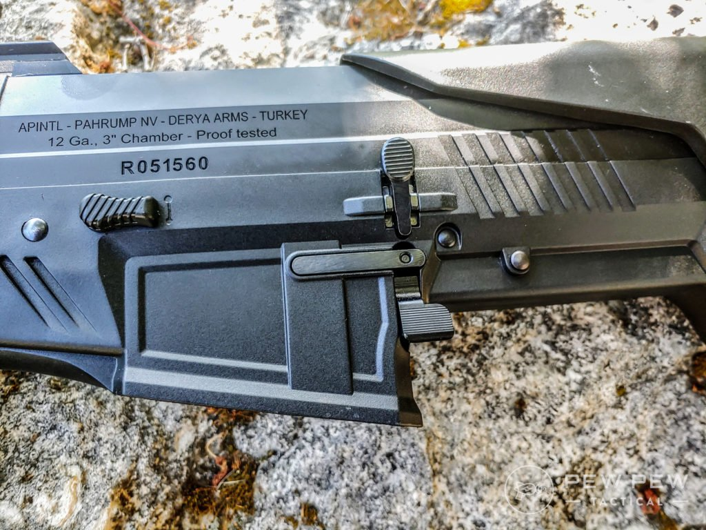Rock Island Armory VRBP-100 On a Rock Side View Mag Release