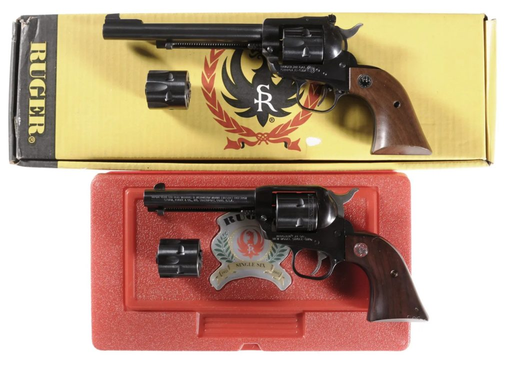 A pair of Ruger Single Six, sold at Rock Island Auction