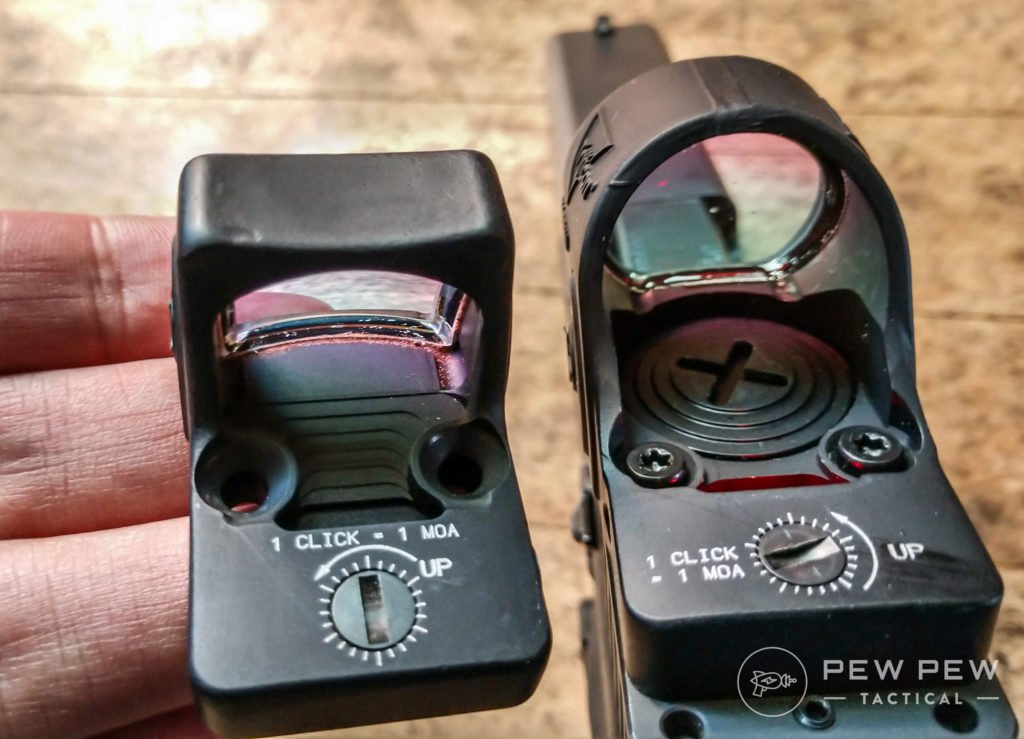 Trijicon SRO Vs RMR side by side