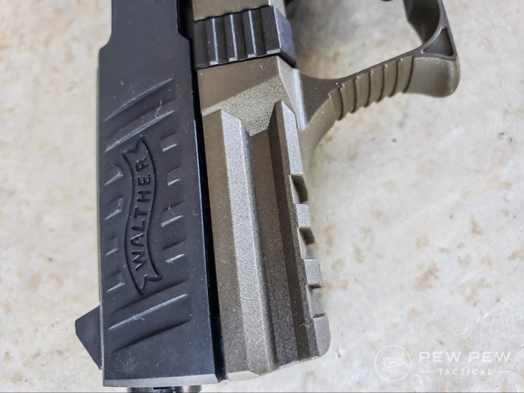 Walther P22 Slide and Under Rail