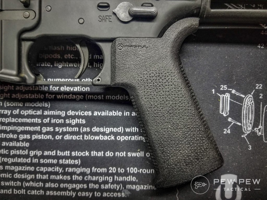 AR-15 Grip Magpul MOE SL grips offer a great lightweight option. (image5)