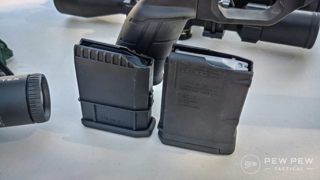 (left) Howa 1500 Magazine (right) Magpul 10-round PMAG