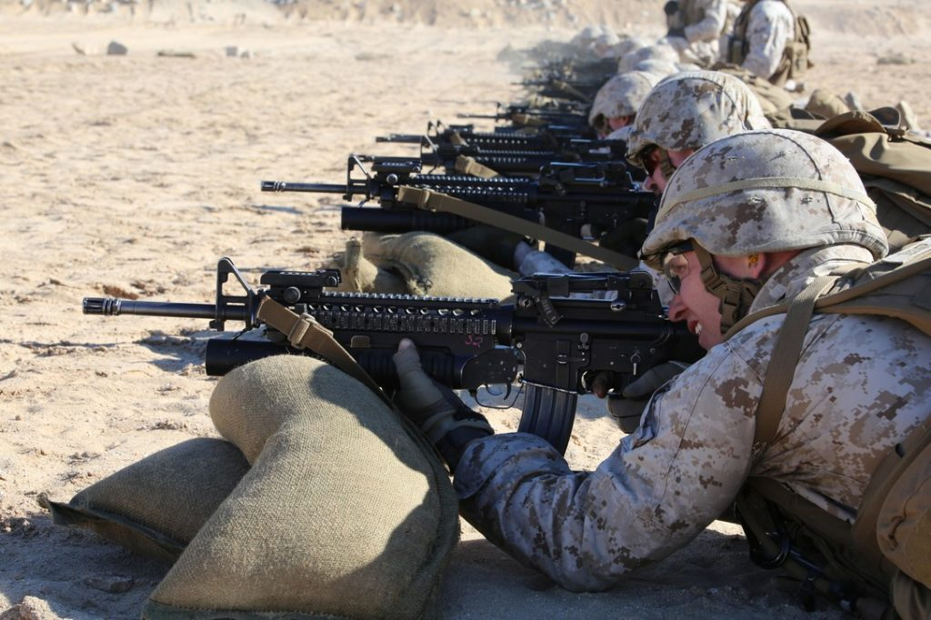 USMC M16a4 with m203