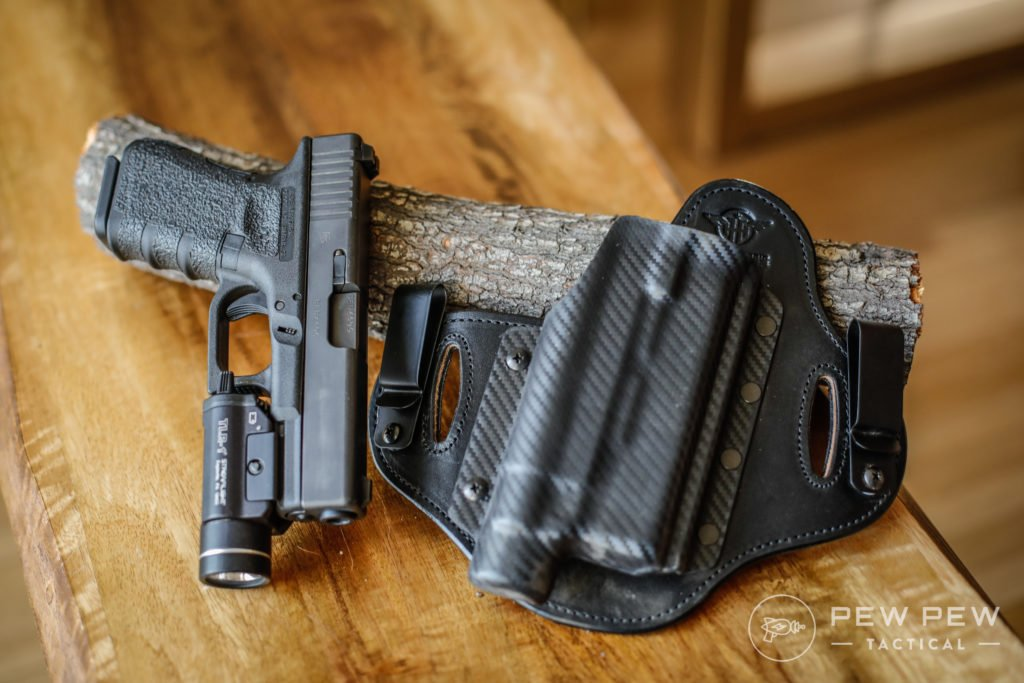 Hidden Hybrid Holster G19 with TLR-1 Double Clip