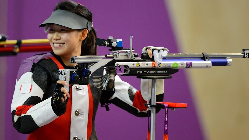 Yi Siling (China), who won gold in the London 2012