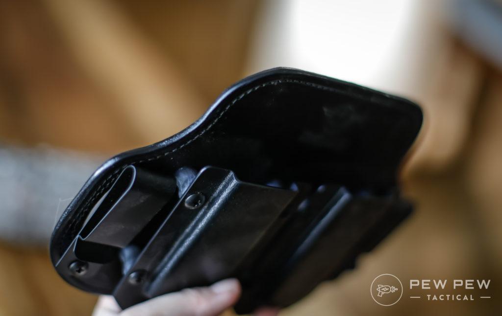 Hidden Hybrid Holster Leather Side