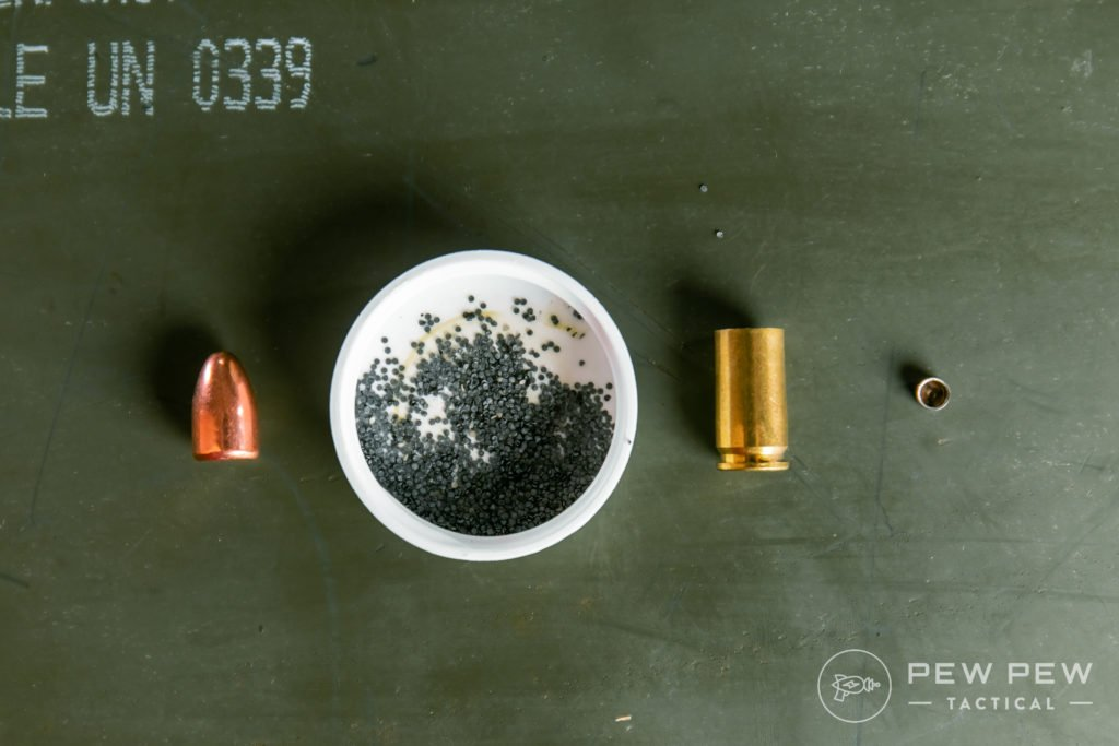 Deconstructed 9mm Round