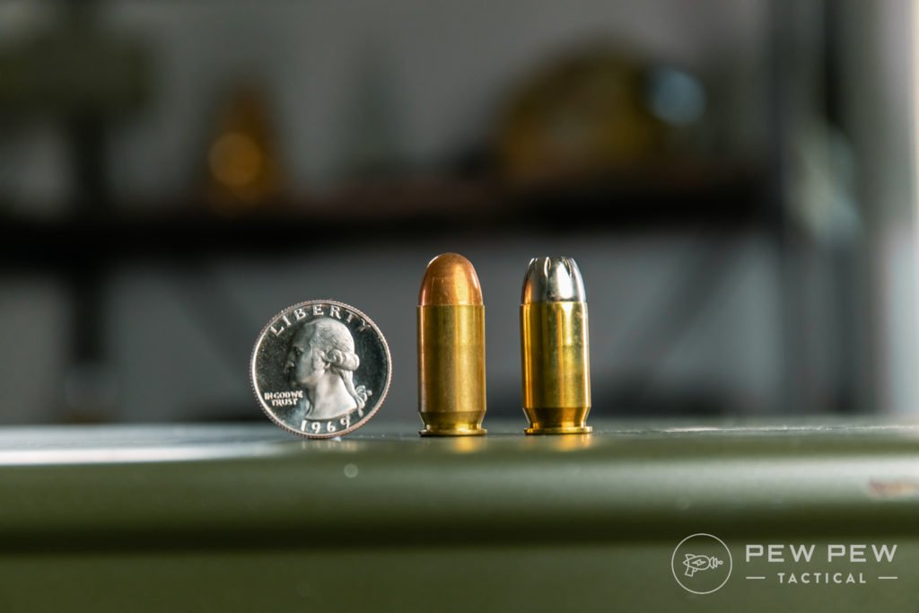 .45 ACP Ball vs Hollowpoint