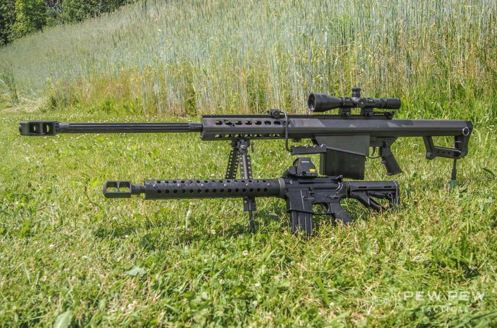 AA 50 Beowulf and Berrett M82A1 50 BMG
