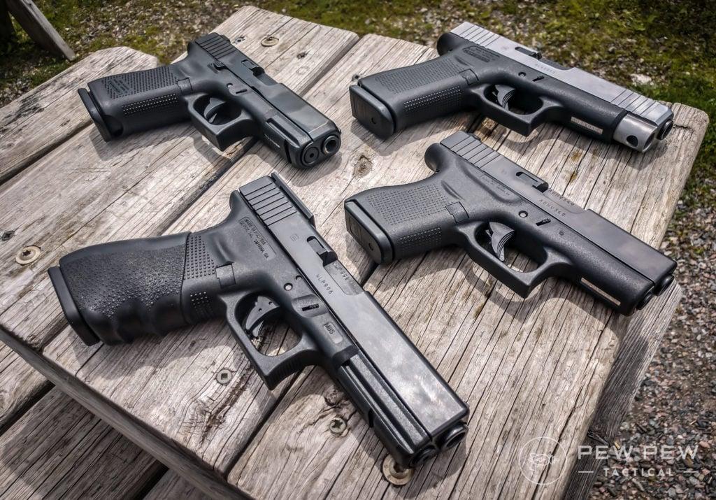 Group of glocks
