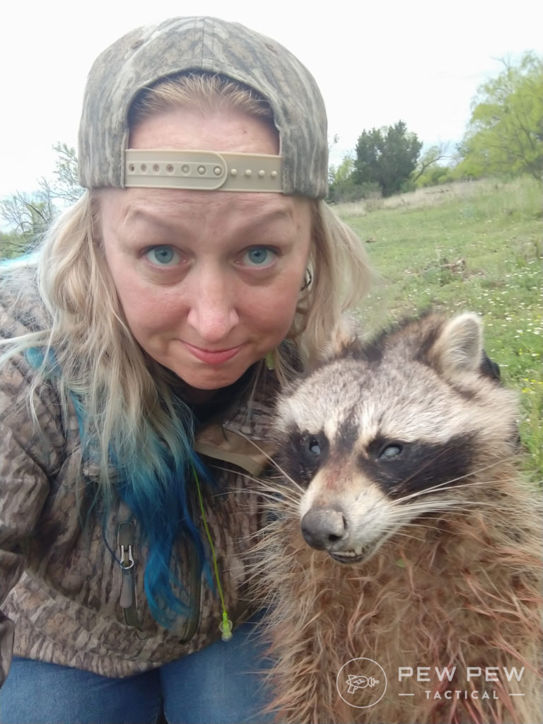 Kat and a Dead Raccoon
