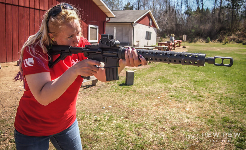 Kat on the range with 50 Beowulf