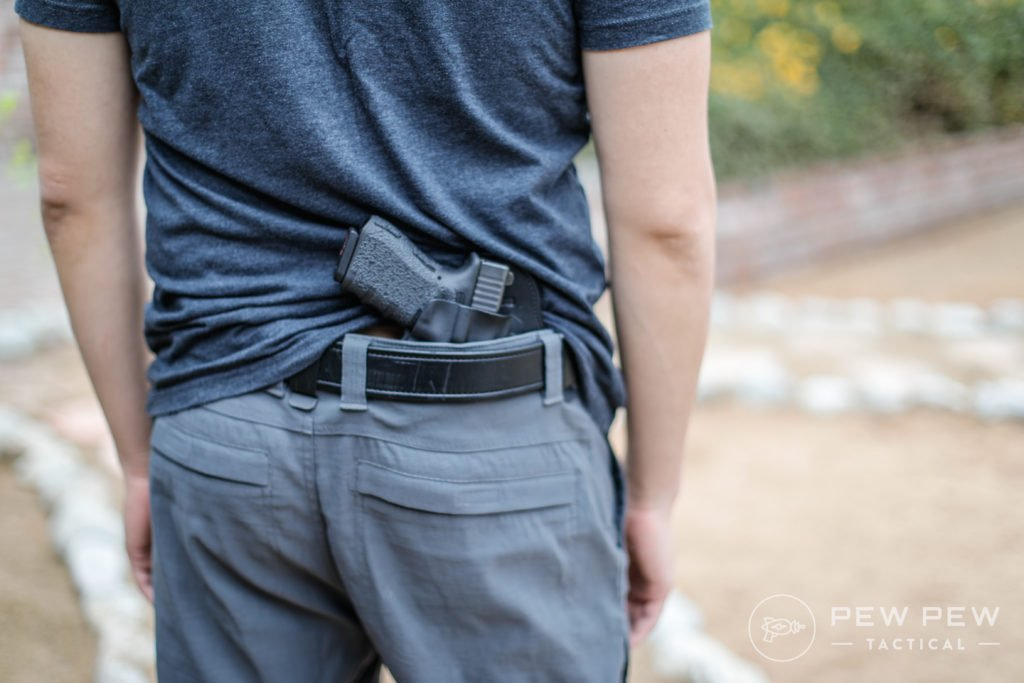 Exposed G19 in Hidden Hybrid Holster